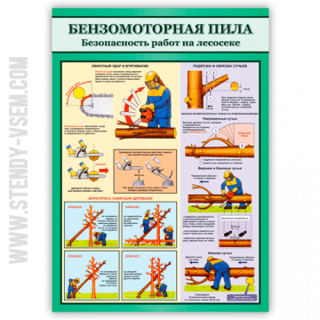 Безопасность работ на лесосеке Бензопила - 2