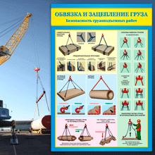 плакаты Строповка складирование Подъем грузов
