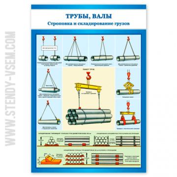 Трубы валы Строповка и складирование грузов