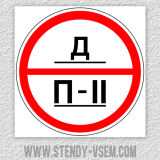 Знаки категории помещений — Д