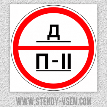 Знаки категории помещений - Д