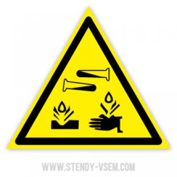 Знак Едкие и коррозионные вещества