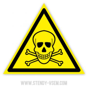 Знак Опасно Ядовитые вещества