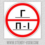 Знаки категории помещений - Г