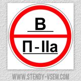 Знаки категории помещений - В