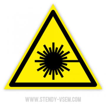 Знак Лазерное излучение
