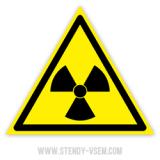 Знак Опасно Радиоактивные вещества или ионизирующее излучение