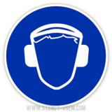 Знак Работать в защитных наушниках