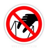Знак Запрещается брать руками. Сыпучая масса (непрочная упаковка)