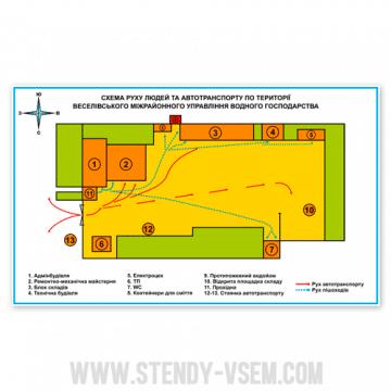 Схема движения транспорта по территории