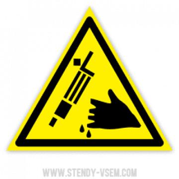 """знак """"Опасность травм режущими инструментами"""""""