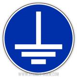 Знак Соединить клемму заземления с землей