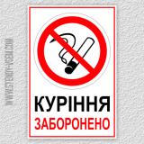 Варіанти знаків Куріння заборонено