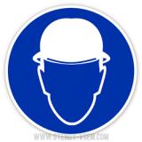 Знак Працювати в захисній касці шоломі