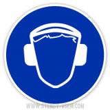 Знак Працювати в захисних навушниках