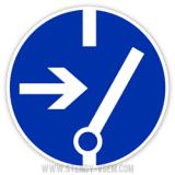 Знак Відключити перед роботою