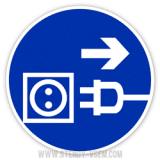 Знак Відключити штепсель