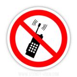 Знак Забороняється користуватися мобільним телефоном