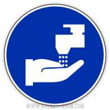 Знак з охорони праці Вимити руки