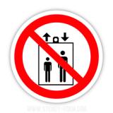 Знак забороняється користуватися ліфтом