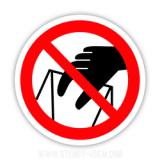Знак Забороняється брати руками Сипуча маса