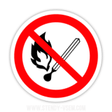 Знак Забороняється користуватися відкритим вогнем