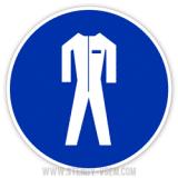 Знак Працювати в захисному одязі