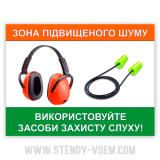 Використовуйте засоби захисту слуху
