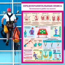 """""""Безопасность работ на высоте"""" категория товаров из 4 плакатов по охране труда."""