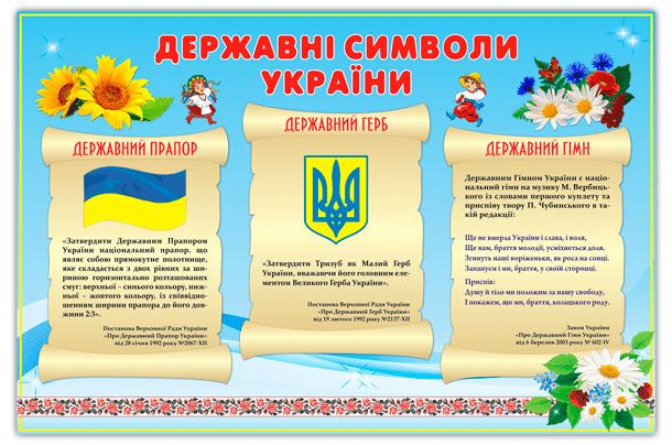 Символика Украины для класса