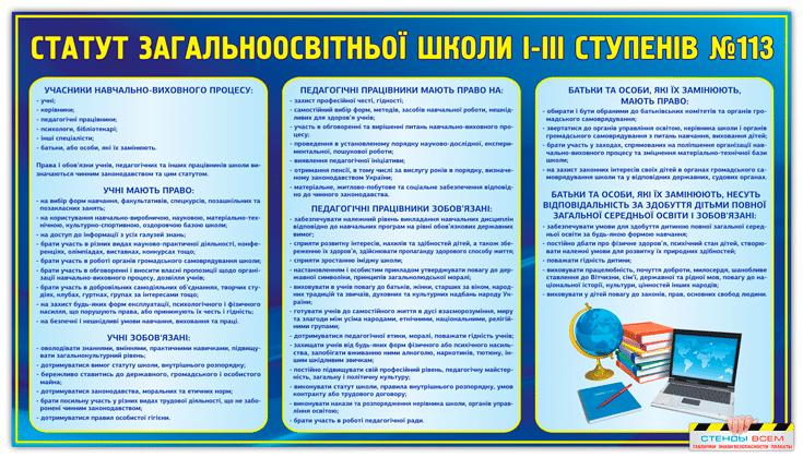 """Стенд информационный """"Устав школы"""""""