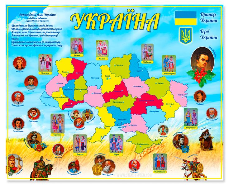 стенд с украинскими видными деятелями