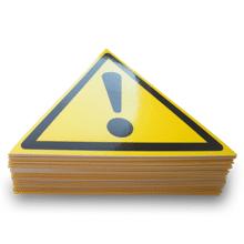 """Категорія товарів """"Попереджувальні знаки безпеки з охорони праці на виробництві""""."""